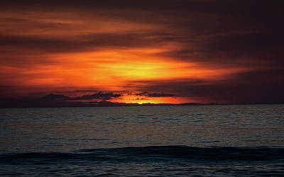 Art Print featuring the photograph Red Sunrise by Lora J Wilson