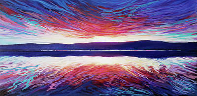 Wall Art - Painting - Red Sunset by Alison Newth