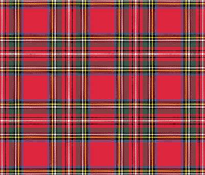 Royalty-Free and Rights-Managed Images - Red Tartan by Marianna Mills