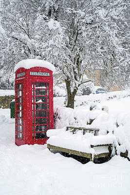 Photograph - Red Telephone Box  by Tim Gainey