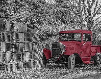 Photograph - Red Truck by Paul and Janice Russell