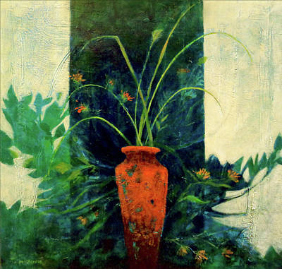 Painting - Red Vase II by Dale Witherow