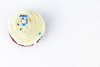 Photograph - Red Velvet Cupcake From Above by Jeanette Fellows