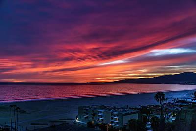 Photograph - Red Velvet Over Malibu by Gene Parks