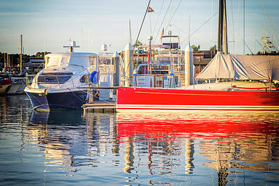 Photograph - Red White And Blue Harbor by Joseph S Giacalone