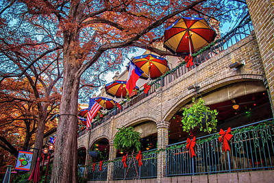 Photograph - Red White And Blue On The Riverwalk by Lynn Bauer