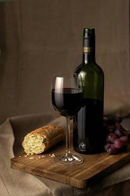 Photograph - Red Wine Stillife by Lisavalder