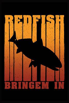 Digital Art - Redfish Dusk Patrol by Kevin Putman