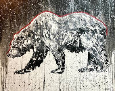 Painting - Redline Bear by Jennifer Morrison Godshalk