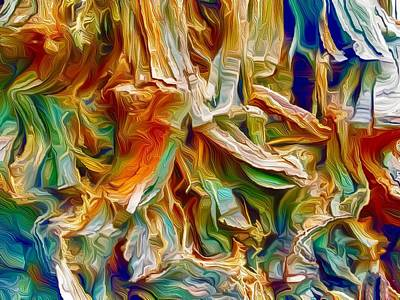 Landscapes Royalty-Free and Rights-Managed Images - Redwood Abstract by Christina Ford