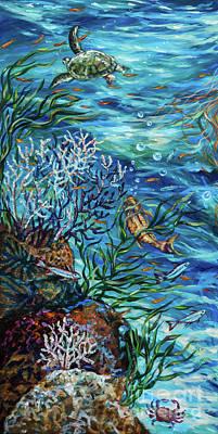 Painting - Reef Rhapsody Left by Linda Olsen