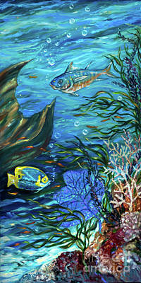 Painting - Reef Rhapsody Right by Linda Olsen