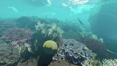 Digital Art - Reef Scene 8 by Duane McCullough