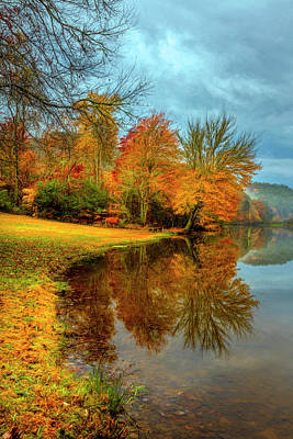Photograph - Reflecting Autumn Colors by Debra and Dave Vanderlaan