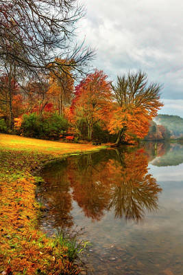 Photograph - Reflecting Autumn Painting by Debra and Dave Vanderlaan