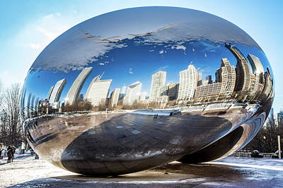 Photograph - Reflecting Bean by Framing Places