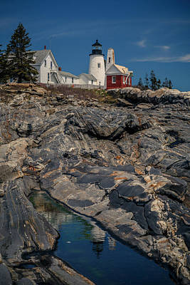 Photograph - Reflecting On Pemaquid Light by ProPeak Photography