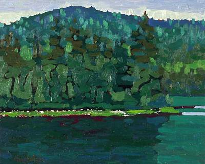 Painting - Reflecting On Robinson Lake by Phil Chadwick