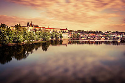 All You Need Is Love - Reflection of colored clouds on the river, sunrise in Prague by Pavel Rezac