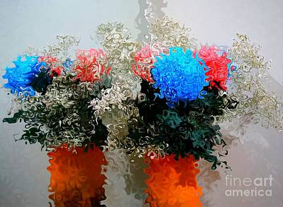 Digital Art - Reflection Of Flowers In The Mirror In Van Gogh Style by Christopher Shellhammer