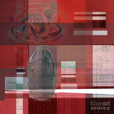 Digital Art - Reflection On A Red Plaid Tablecloth by Zsanan Narrin