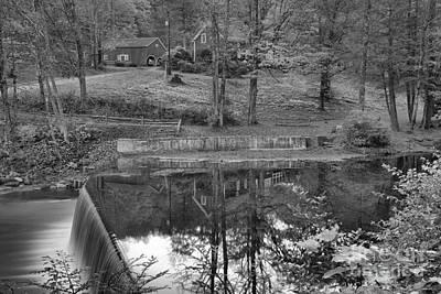 Photograph - Reflections At The Green River Crib Dam Black And White by Adam Jewell