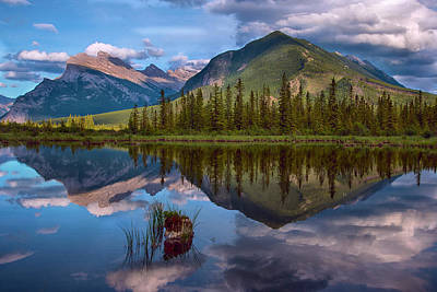 Photograph - Reflections In Vermillion Lakes, Banff National Park Canada 4 by Dave Dilli