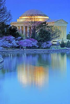 Photograph - Reflections, Jefferson Memorial by Bill Jonscher