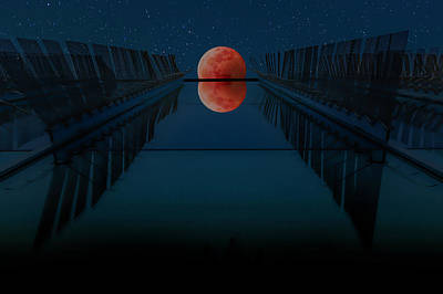 Photograph - Reflections Of A Blood Moon by PhotoWorks By Don Hoekwater