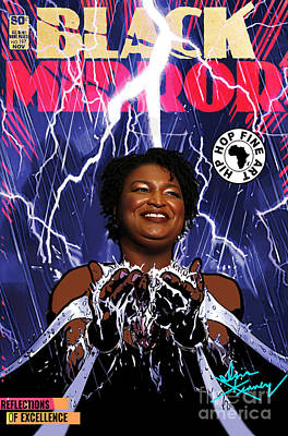 Digital Art - Reflections Of Excellence Stacey Abrams by Isis Kenney