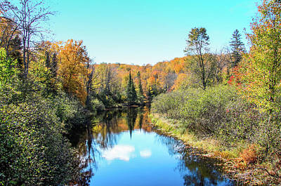 Reflections Of Fall In Wisconsin Art Print