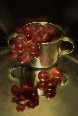 Photograph - Reflections Of Grapes by Pamela Walton