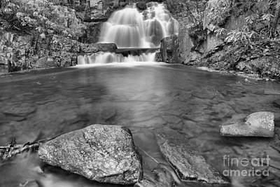 Photograph - Reflections Of Hawk Falls Black And White by Adam Jewell