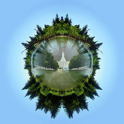 Digital Art - Reflections of the Temple by K Bradley Washburn