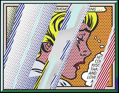 Photograph - Reflections On Girl by Doc Braham - In Tribute to Roy Lichtenstein