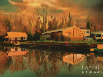 Photograph - Reflections On The Wey by Leigh Kemp