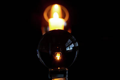 Photograph - Reflective Candle by Jennifer Wick