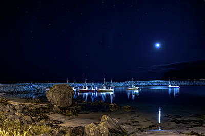 Photograph - Refllexions In A Still Harbor At Lofoten  by Arctic FineArt