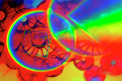 Refracting The Wheel Art Print