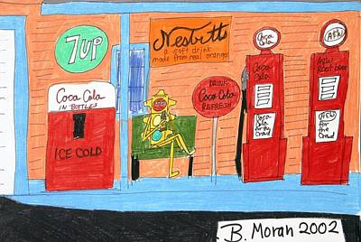 Drawing - Refreshing Ice Cold Drink by Barb Moran