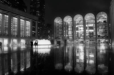 Photograph - Refuge Under The Umbrella At Lincoln Center by Jacqui Boonstra
