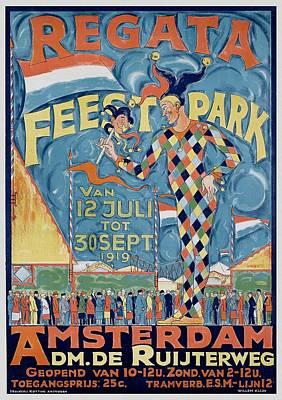 Painting - Regata Feestpark Amsterdam, 1919 by Unknown