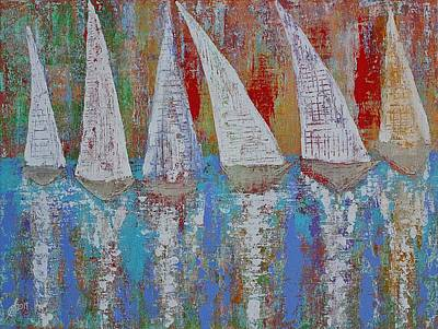 Painting - Regatta Original Painting by Sol Luckman