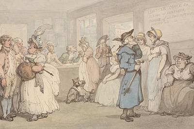 Drawing - Register Office For The Hiring Of Servants by Thomas Rowlandson