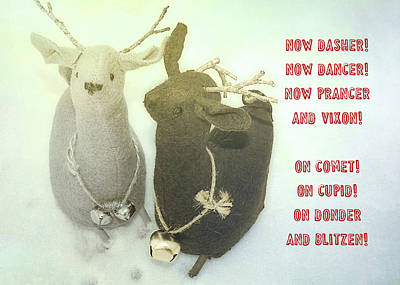Photograph - Reindeer Dash Quote by JAMART Photography