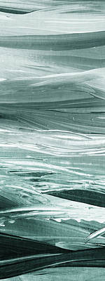 Abstract Royalty-Free and Rights-Managed Images - Relaxing Gray Abstract Meditative Lines I by Irina Sztukowski