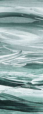 Painting - Relaxing Gray Abstract Meditative Lines II by Irina Sztukowski