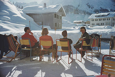 Ski Resort Photograph - Relaxing In Lech by Slim Aarons