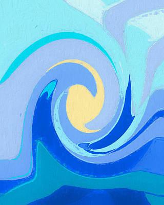 Painting - Relaxing Ocean Wave by Dan Sproul