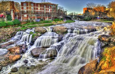 Photograph - Relentless Reedy River Falls Park Greenville South Carolina Art by Reid Callaway